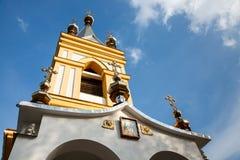 圣尼古拉斯教会在柯达Dnipro中 免版税库存照片