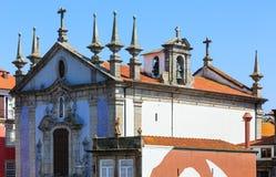 圣尼古拉斯教会在波尔图 库存照片