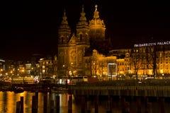 圣尼古拉斯教会在阿姆斯特丹 免版税库存照片
