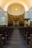 圣尼古拉斯教会的内部  免版税库存图片