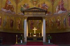 圣尼古拉斯教会的内部  图库摄影