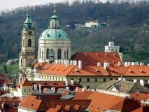 圣尼古拉斯教会,一点镇,布拉格,捷克共和国 库存图片