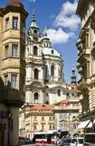 圣尼古拉斯教会,布拉格,捷克共和国 免版税库存图片