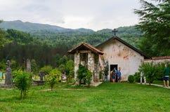 圣尼古拉斯教会, Moraca,黑山修道院  免版税图库摄影