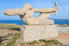 圣尼古拉斯教堂海角的Kaliakra 库存照片