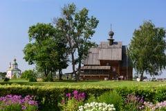 圣尼古拉斯木教会在苏兹达尔克里姆林宫  suzdal的俄国 免版税库存图片