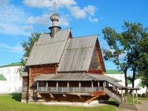 圣尼古拉斯木教会在苏兹达尔镇在俄罗斯 图库摄影