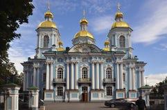 圣尼古拉斯海军大教堂,圣彼得堡,俄罗斯 库存照片
