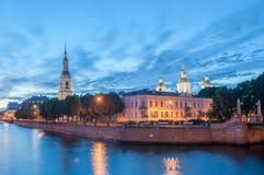 圣尼古拉斯海军大教堂 圣彼德堡 俄国 免版税图库摄影