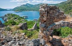 圣尼古拉斯海岛废墟 图库摄影