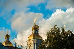 圣尼古拉斯的大教堂, Nikolsky sobor在圣彼得堡 图库摄影