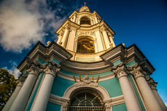 圣尼古拉斯的大教堂, Nikolsky sobor在圣彼得堡 免版税图库摄影