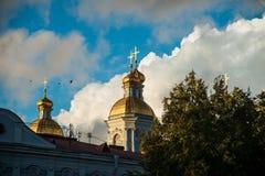圣尼古拉斯的大教堂, Nikolsky sobor在圣彼得堡 免版税库存图片