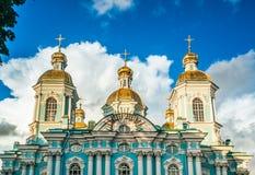 圣尼古拉斯的大教堂, Nikolsky sobor在圣彼得堡 库存照片