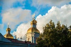 圣尼古拉斯的大教堂, Nikolsky sobor在圣彼得堡 免版税库存照片