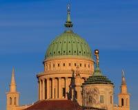 圣尼古拉斯的教会在波茨坦早晨(圣尼古拉Kirc 免版税图库摄影