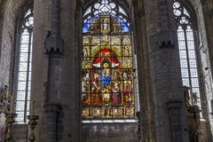 圣尼古拉斯的教会,跟特,比利时内部  图库摄影