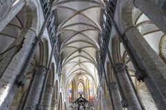 圣尼古拉斯的教会,跟特,比利时内部  免版税库存照片