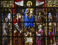 圣尼古拉斯的教会,跟特,比利时内部  免版税库存图片