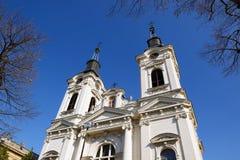 圣尼古拉斯,斯雷姆斯基卡尔洛夫奇,塞尔维亚大教堂  库存图片