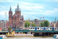 圣尼古拉斯,阿姆斯特丹大教堂  图库摄影