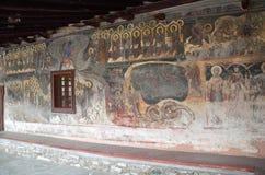 圣尼古拉斯, Velventos教会外在壁画  库存照片
