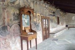 圣尼古拉斯, Velventos教会外在壁画  免版税图库摄影