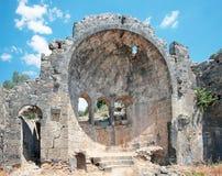圣尼古拉斯(或圣诞老人)在Gemiler海岛, Fethiye,土耳其上 库存照片