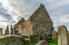 圣尼古拉斯`教会和坟墓围场古老废墟  图库摄影