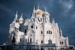 圣尼古拉斯Belogorsky修道院在俄罗斯 免版税库存图片