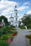 圣尼古拉斯Chernoostrovsky修道院  库存图片