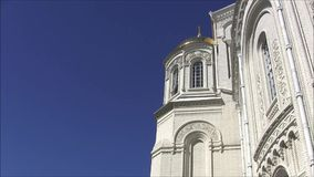 圣尼古拉海军大教堂在Kronstadt 影视素材