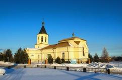 以圣尼古拉的名义教会 免版税图库摄影