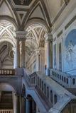 圣尼古拉竞技场-卡塔尼亚西西里岛意大利本尼迪克特的修道院内部  免版税库存照片