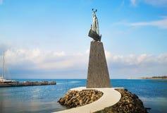 圣尼古拉雕象  免版税库存照片