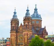 圣尼古拉Sint Nicolaaskerk,阿姆斯特丹大教堂  免版税图库摄影