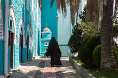 圣山的俄国St Pantaleon正统修道院 图库摄影