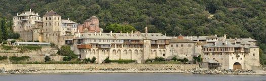 圣山的希腊Xenofontos修道院 免版税库存图片