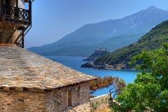 圣山,希腊 库存图片