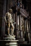 圣巴塞洛缪在米兰大教堂里 图库摄影