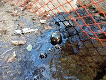圣巴巴拉县石油球形 图库摄影