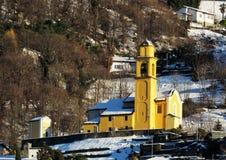圣巴斯弟盎, Daro- Artore,贝林佐纳教会  提契诺州,瑞士 库存图片