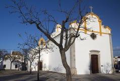 圣巴斯弟盎, Tavira,葡萄牙教堂  图库摄影