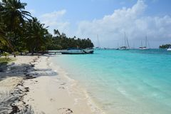 圣布拉斯热带海岛巴拿马 图库摄影