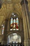 圣帕特里克从曼哈顿中城的大教堂内部在纽约在美国 库存照片
