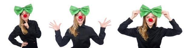 圣帕特里克假日概念的滑稽的人 免版税库存图片