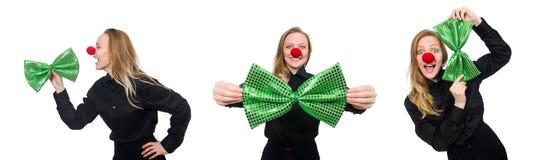 圣帕特里克假日概念的滑稽的人 免版税图库摄影