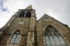 圣帕特里克大厦和窗口,都伯林大教堂细节  免版税库存图片