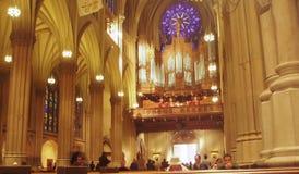 圣帕特里克大教堂内部 图库摄影