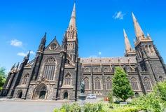 圣帕特里克大教堂,墨尔本-澳大利亚 免版税库存照片